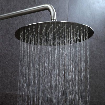 8 High Pressure Rain Shower Head Round Top
