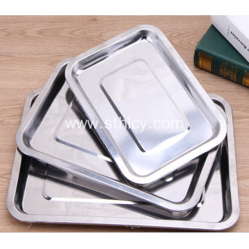 304 Stainless Steel Plate Rectangular Tray Barbecue Tray