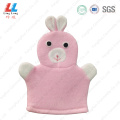 Cute rabbit gloves children shower item