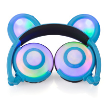 Figment Cute LED Light Panda Ear Headphones