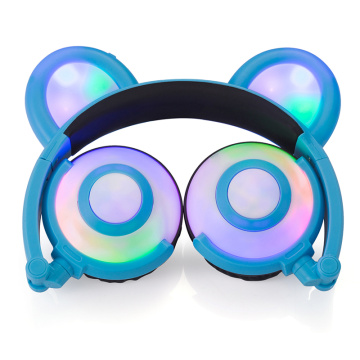 Leading for Bear Ear Headphones Figment Cute LED Light Panda Ear Headphones export to China Hong Kong Supplier