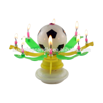 Flower Birthday Musical cake Candle
