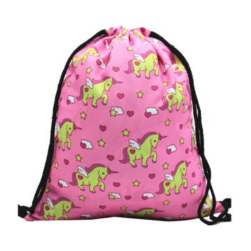 Wholesale Promotional Cheap Folding Cartoon Drawstring Bag With Logo