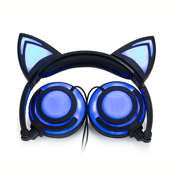 Charging cat ear lighting headphone