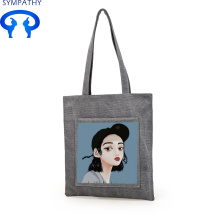 Custom single shoulder canvas bag with canvas bag