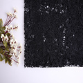 Garment Classic Black Flower Chemical Lace Fabric