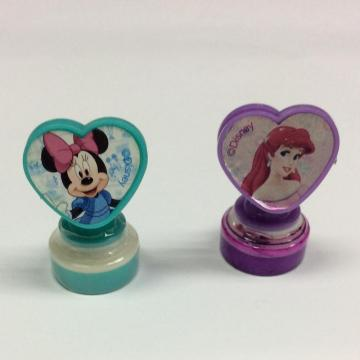 Plastic cartoon clip handle stamp