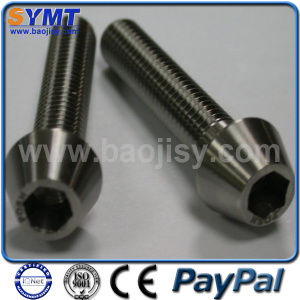 Gr5 Hexagonal Socket Titanium Screw
