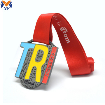 Custom zinc alloy metal and square medals