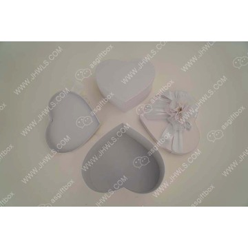 Heart-shaped nylon print Jewelry Box