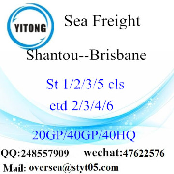 Shantou Port Sea Freight Shipping To Brisbane