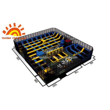 Trampoline Park  With High Tube For Children