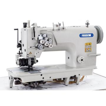 High Speed Three Needle Lockstitch Sewing Machine with Puller