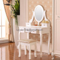 Vanity Makeup Table Set Dressing Table with 5 Drawers/Stool ,White