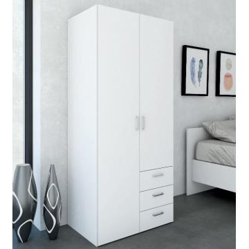 2 Door White  Modern Wooden Wardrobe unit