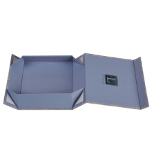Flat Folding Cardboard Gift Box With Magnetic Closure