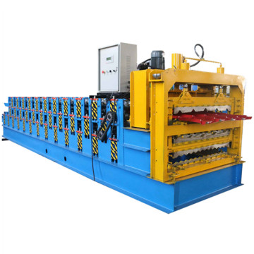 Three Layer Sheet Making Tile Roll Forming Machine