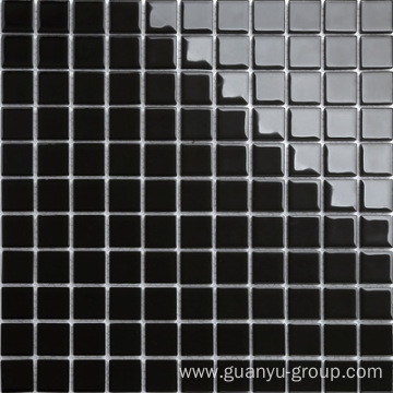 Pure Black Color Glass Mosaic
