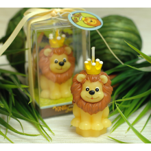 lion cartoon shape candle for birthday gift set