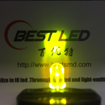 Super Bright 570nm LED 5mm Yellow-green LED 45-degree