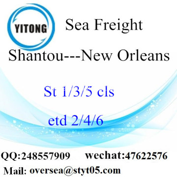 Shantou Port LCL Consolidation To New Orleans