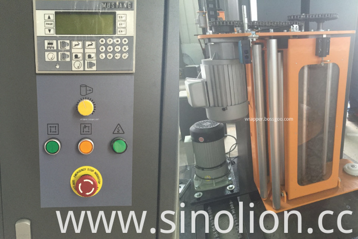 Food Wrapping Machine (control panel and film carriage)