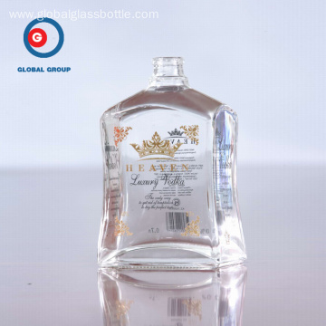 Luxury Vodka Glass Clear Bottle