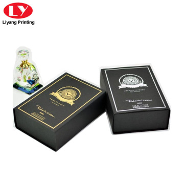 Magnet Close Black Paper Perfume Gift Box
