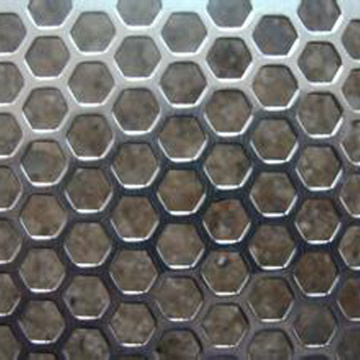 1.2mm hexagonal hole ms perforated metal sheet