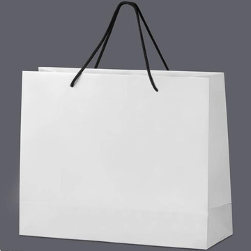 Black Elegant Custom Clothing Packaging Bag