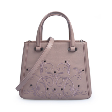 Leather Carved Bag Floral Pattern Women Handbags