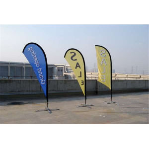 Customized Fiberglass Pole Teardrop Beach  Flying Flag