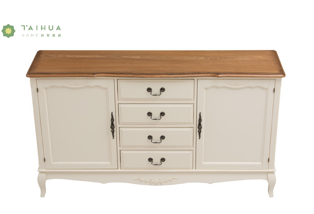 Ivory White Solid Wood Chest