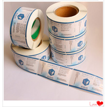 Wholesale Custom Logo Printed Adhesive Label Sticker