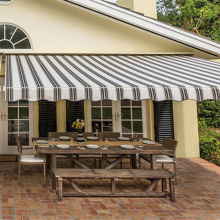 Retractable Patio Sun Shade Awning Cover Aluminum Frame