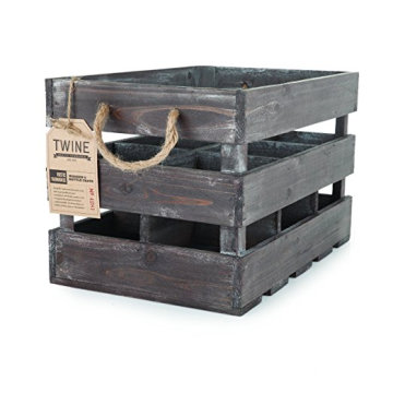 Rustic Wood 6 Bottle Crate Wooden 6 Wine Bottle Holder