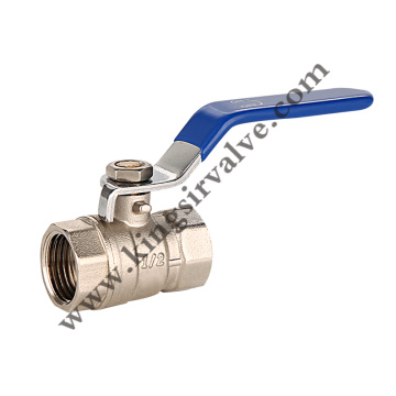 Blue handle ball valve