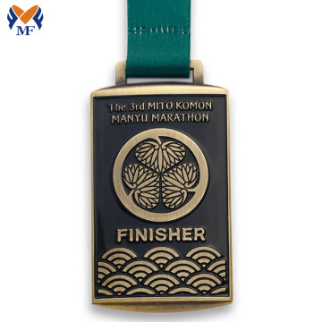 Marathon race finisher metal medals