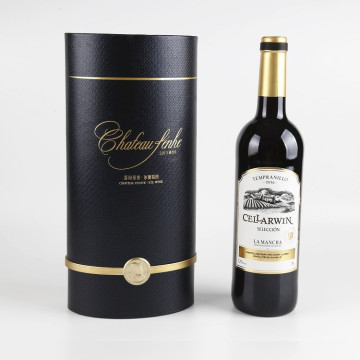 Luxury Decorative Textured Paper Wine Gift Box