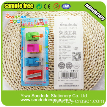 Blister Card Packing, Car Series Eraser Rubber