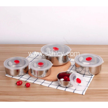 5-Piece Stainless Steel Food Container Set