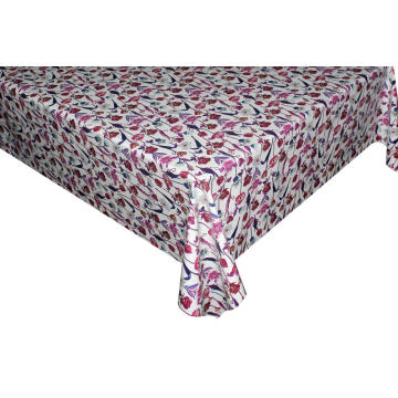 Elegant Tablecloth with Non woven backing Square Vinyl