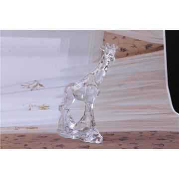 Clear Glass  Giraffe Statue For Decoration