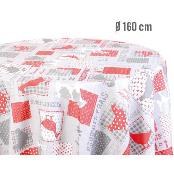 Elegant Tablecloth with Non woven backing Vinyl Outdoor