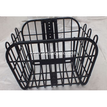 Black Front Bicycle Basket Steel Basket
