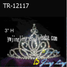 3 Inch Wholesale Cheap Rhinestone Pageant Crown Tiara