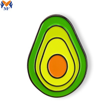 Metal custom avocado vegan pin badge