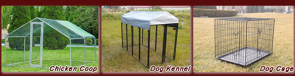 outdoor metal dog kennel