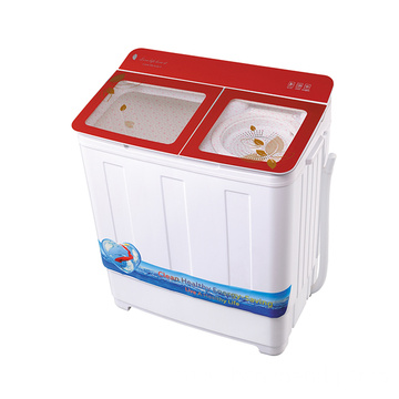 Red Glass Cover 7.2KG Twin Tub Washing Machine