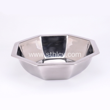 Non Magnetic Stainless Steel Octagonal Hot Pot Basin